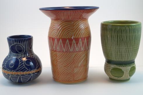 AmyBrenner2.sgraffito-vases